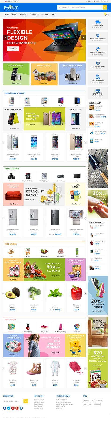 everest premium responsive multipurpose magento theme