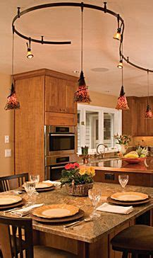 pendant track lighting for kitchen two circuit mono rail mix pendants with track heads 7419
