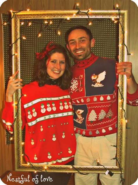 nestful  love tacky christmas sweater party