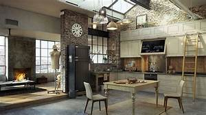 Deco Murale Industrielle : 30 exemples de d coration de cuisines au style industriel ~ Teatrodelosmanantiales.com Idées de Décoration