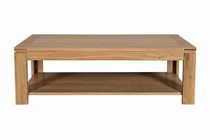 table basse moderne en bois massif chene de france hellin With table moderne en bois