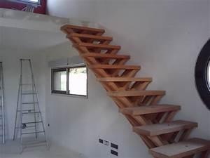 Escalier Bois Intérieur : escaliers kaori constructions maison ossature bois ~ Premium-room.com Idées de Décoration