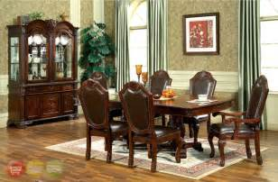 7 dining room sets chateau traditional 7 formal dining room set pedestal table chairs ebay