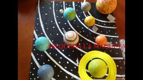 como hacer una maqueta del sistema solar how to make the solar system youtube
