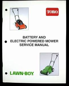 Toro Battery And Electric Powered Mower Oem Service Manual