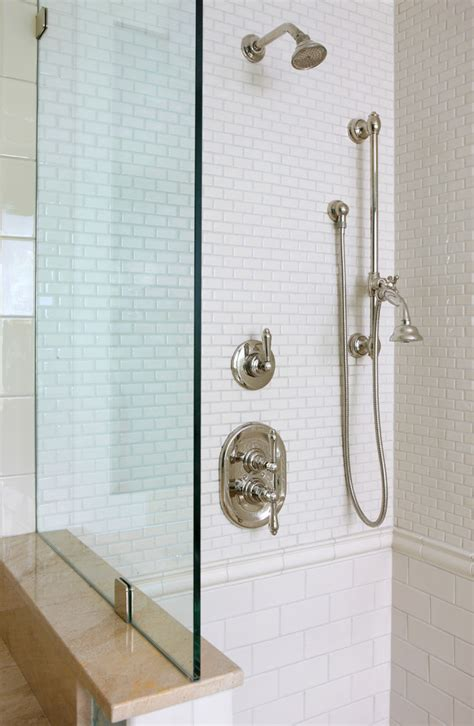 Bathroom Fixture Sizes by Subway Tile Sizes Bathroom Traditional With Alcove Arch