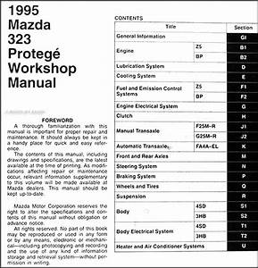 1995 Mazda 323 And Protege Repair Shop Manual 95
