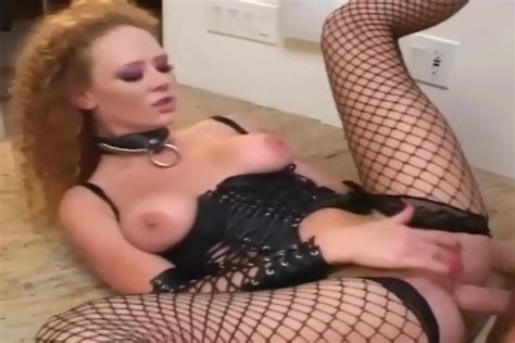Redhead Has Sex In Leather And Fishnet Stockings Femdom Porn