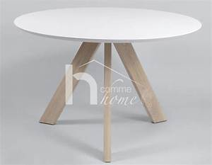 Table A Manger Ronde Blanche : table ronde blanche ~ Teatrodelosmanantiales.com Idées de Décoration
