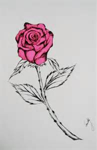 Drawings of Roses Hearts