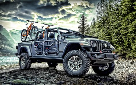 Download Wallpapers Jeep Gladiator Rubicon, Offroad, 2020