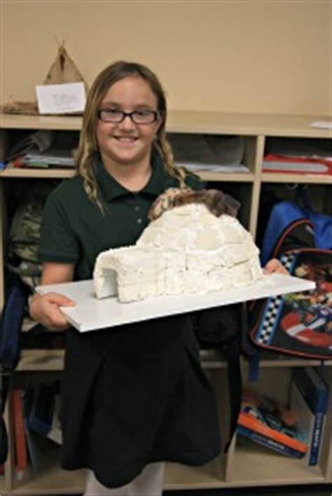 graders create native american dwelling models painted rock academy