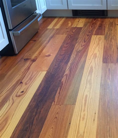 Antique Longleaf Pine Flooring by Reclaimed Pine Flooring Gurus Floor