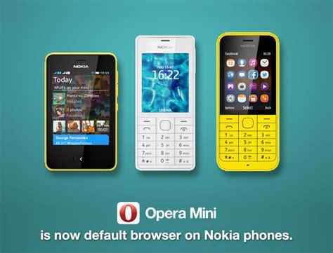 opera mini is now default browser for nokia asha phones opera india