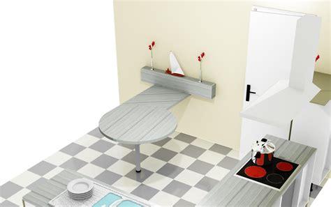 table de cuisine originale une cuisine sur mesure réalisée par simon mage
