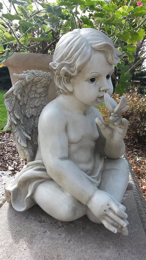 cherub garden statues cherub butterfly garden statue on at wing and a prayer