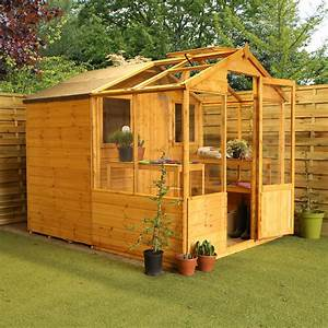Wooden, Greenhouse, U0026, Storage, Shed, 8x6, Outdoor, Garden, Building, Potting, Shed, 8ft6ft