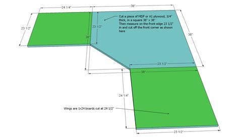 how to make a corner desk white office corner desktop plans diy projects