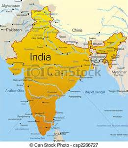 Map of India Country