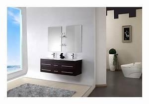 Meuble Salle De Bain Bois Double Vasque : meuble salle de bain double vasque bois massif weng 140 cm sam wenge salle de bain wc ~ Melissatoandfro.com Idées de Décoration