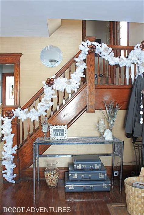 decorate your staircase for christmas 187 decor adventures