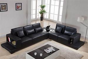 Leather sofa living room furniture ideas youtube for Sectional sofas room place