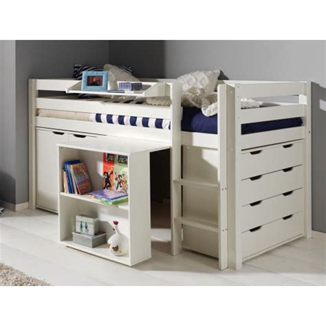 lit mezzanine bureau blanc lit combiné quot pino iii quot blanc