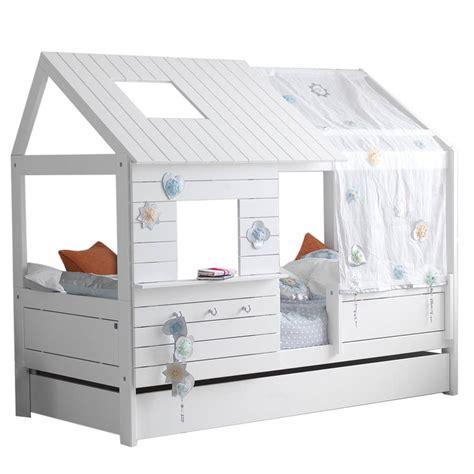 mattress bunk bed silversparkle low hut children 39 s bed by cuckooland