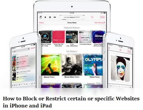 how to block a website on iphone how to block or restrict specific website on iphone and