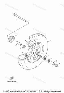 Yamaha Scooter 2011 Oem Parts Diagram For Front Wheel