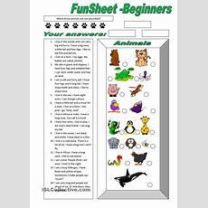 Funsheet For Beginners Animals  Free Esl Worksheets  M  Animal Worksheets, Esl Worksheets