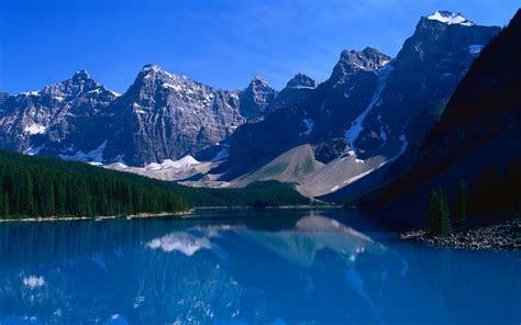 Moraine Lake Lake Nature Landscape Mountain Water