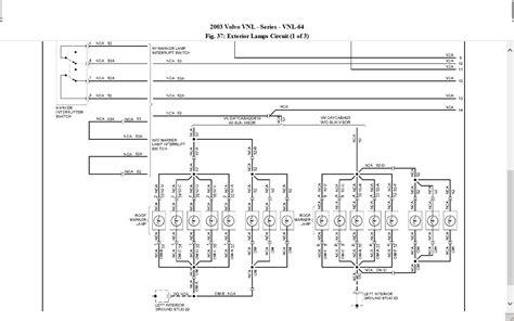 Volvo Vnl 660 Wiring Diagram 2003 volvo vnl 660 w cummins n 14 tractor lights