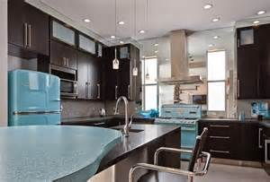 retro kitchen lighting ideas shining teal fridge with retro appliances using black