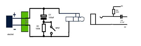 Eliminating The Pop Ptt Electret Condenser Circuit