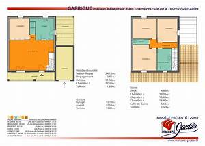 plan maison 80m2 3 chambres etage With plan maison demi etage 9 plan maison 80 m