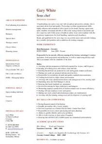 exle of a sous chef resume sous chef cv hashdoc