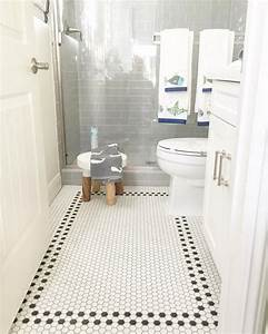 30 best images about small bathroom floor tile ideas on for Small bathrooms tile ideas