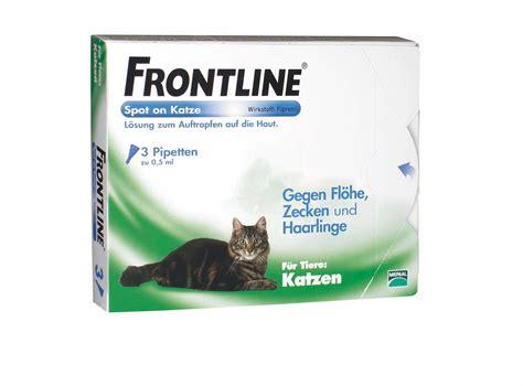 frontline fuer katzen frontline spray   hunde katzen