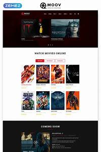 Movie Responsive Website Template  49053