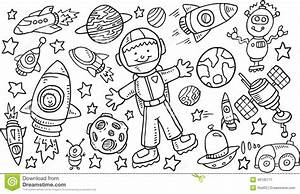 Outer Space Doodle VectorSet Stock Vector - Image: 49185771
