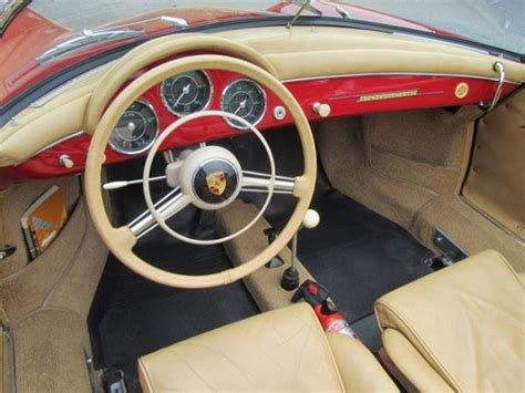 car interior dashboard  porsche  speedster fav