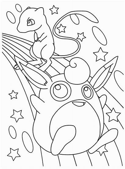Pokemon Coloring Mew Pages Legendary Printable Wigglytuff