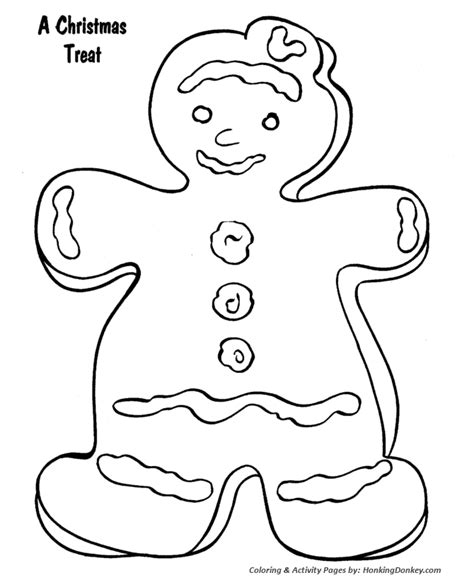 Free printable christmas coloring pages. Christmas Cookies Treat Coloring Page Activity Sheet ...