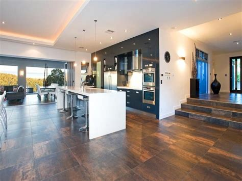 modern open plan kitchen designs modern open plan kitchen design using tiles kitchen 9253