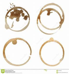 Coffee Stain Rings Vector Set Stock Vector - Image: 90109545