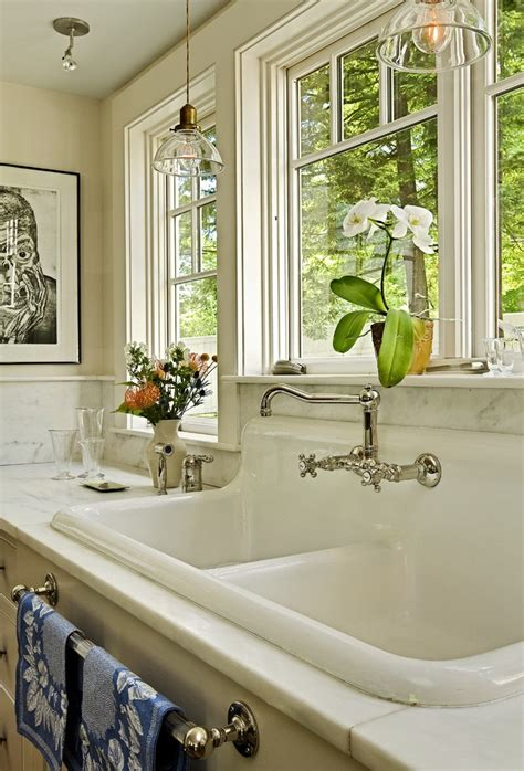 Country Kitchen Sink Ideas by Looking Utility Sink Faucet In Kitchen Traditional