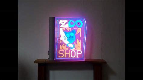 panneau lumineux led deco fotolight panneau lumineux 224 led grav 233 au laser
