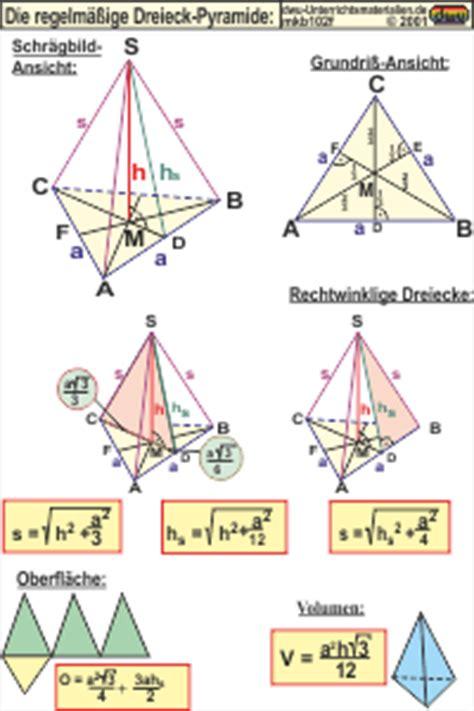 mkb die regelmaessige dreieck pyramide