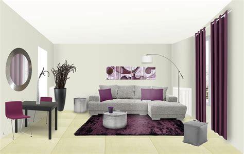 les meilleurs couleurs pour une chambre a coucher déco salon prune et noir